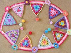 Crochet bunting/Granny triangles | Pinkfluffywarrior