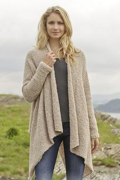 Free knitting pattern for Ballade Draped Front Jacket and more draped cardigan knitting patterns