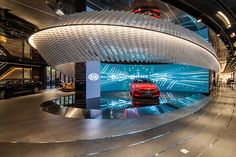KIA BEAT 360 is a multipurpose brand experience center, and it was built by renovating the entire interior and exterior Mall Design, Showroom Design, Exhibition Booth Design, Exhibition Space, Games Room Inspiration, Design Inspiration, Retail Interior Design, Experience Center, Experiential Marketing