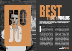 "Remake of ""Best of Both Worlds"" double page spread - MOJO"