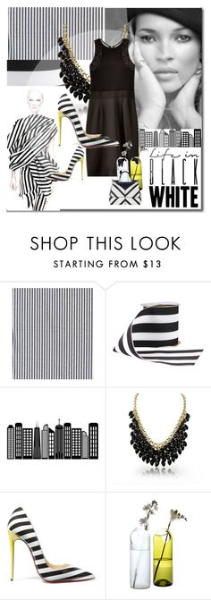 """""""Black And White.."""" by audrey-prater ❤ liked on Polyvore featuring Giambattista Valli, Ashley Graham, Christian Louboutin, Artecnica and Dolce&Gabbana"""