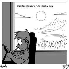 Buen día : #WebcomicZ 164 : #ClipStudioPaint  #Cintiq  #: #calor #sol #playa #oscuridad #dibujar #webcomic #comic #comicdiario #dailycomic : #DailySketch 893