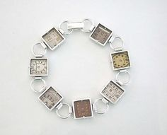 Antique Watch Dial Bracelet by Connie Verrusio