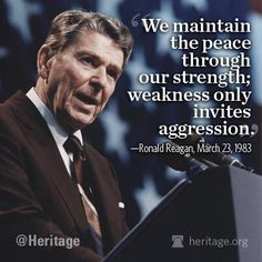 Rand Paul Blames America First, Advocates Appeasement By Zbigniew Mazurak on Mar 2014 in National Defense and Military, Politics, Suppor. Ronald Reagan Zitate, Ronald Reagan Quotes, President Ronald Reagan, 40th President, President Quotes, Current President, Great Quotes, Inspirational Quotes, Awesome Quotes