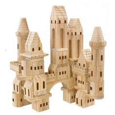 Wood Castle Blocks - A fabulous 60 piece set that any child will be enthralled creating their own wondrous constructions and imaginary adventures.