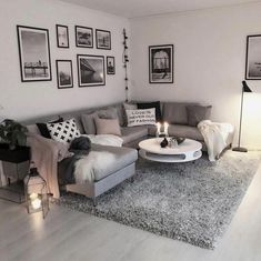 Wohnzimmer Wohnzimmer The post Wohnzimmer & Wohnung appeared first on Living room decor . Living Room Ideas 2018, Cozy Living Rooms, Living Room Grey, Home Living Room, Apartment Living, Living Room Designs, Apartment Entryway, Apartment Furniture, Gray Living Room Decor Ideas