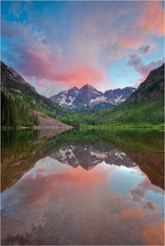 Colorado and the Rocky Mountains, USA.I want to go see this place one day.  I'd like to canoe down this body of water.
