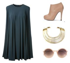 macaw blue:) by lilkfo on Polyvore featuring polyvore, fashion, style, CO, Bisjoux and Linda Farrow