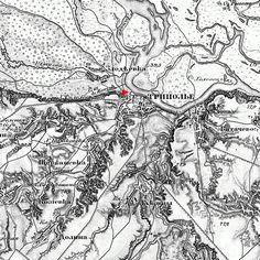 Трипілля, карта Шуберта (1868-1877)