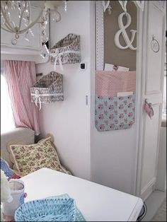 Anyone Can Decorate: Camping in Vintage Chic Style ~ shabby chic interior details