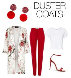 """""""Duster Coats"""" by brinkley7222 on Polyvore featuring River Island, Loewe, Gucci, Marni and RE/DONE"""