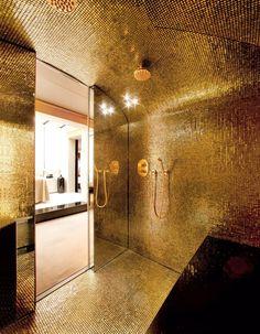 Bathroom, Gold leaf Mosaic