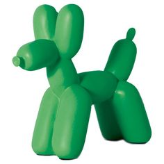 Kelly Green Big Top Balloon Dog Bookend