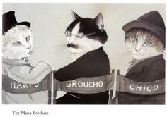 The Manx Brothers....Movie Cats by Susan Herbert