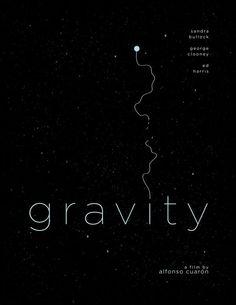 minimalist type poster | Gravity by Henry Alvarez #minimal #movie #poster | Typography ...
