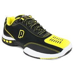 Prince Men`s Rebel 2 LS Black/Yellow Tennis Shoes. On Sale for $109.00