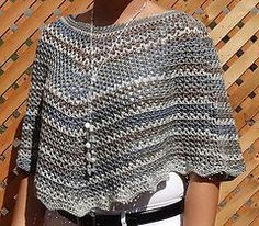 V-stitch poncho - Free crochet pattern by Helena LB. In dk yarn, 5mm hook, one size fits most.