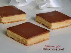 Milliomosszelet | Bibimoni Receptjei Tiramisu, Cheesecake, Ethnic Recipes, Food, Caramel, Cheesecakes, Essen, Meals, Tiramisu Cake