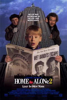 Home Alone 2: Lost In New York (1992) starring Macaulay Culkin, Joe Pesci, Daniel Stern and John Heard.