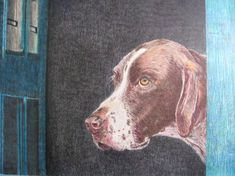Limited Edition Painting Print of German Shorthaired by VanaGogh, $40.00