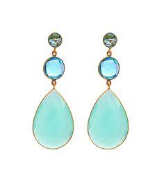 Pendientes de Topacio Azul Head Jewelry, Resin Jewelry, Body Jewelry, Diamond Jewelry, Fine Jewelry, Stylish Jewelry, Simple Jewelry, Fashion Jewelry, Accesorios Casual