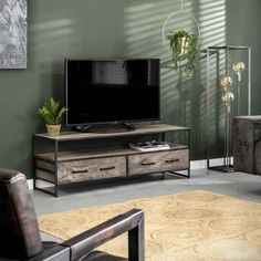 TV bord i grå akacietræ Acacia, Flat Screen, Design, Products, Wood Tv Stands, Lounge Chairs, Blood Plasma, Flat Screen Display