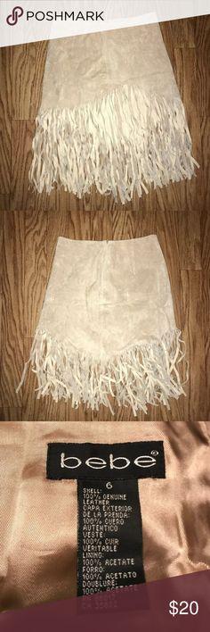 Bebe 100% Leather Skirt Bebe 100% Leather Skirt in good condition. Bebe Skirts Mini
