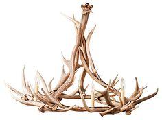 One Kings Lane - HGTV: Logging Out - Antler Chandelier