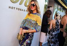 Tanja Gacic in a Christopher Esber top, Romance Was Born skirt, and Preen sunglasses