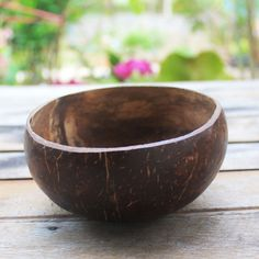 Coconut bowl,coconut shell 1 bowl size 5 x 3 by TheThailand on Etsy