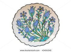 Turkish tile plate - isolated by Orhan Cam, via ShutterStock