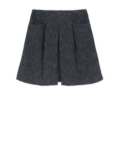 0.000 EUR (Italian price). - Skirt in a tweed-effect pique fabric. A-line silhouette, with central box pleat and regular pleats in the front. Regular waist. Inset pockets. Garment fastened by means of an invisible zipper set into the side. Knee-length. This item is lined. - Free Shipping and Returns!