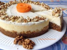 Mrkvový cheesecake Czech Desserts, Sweet Desserts, Sweet Recipes, Good Food, Yummy Food, Cheesecake Recipes, No Bake Cake, Food Inspiration, Sweet Tooth