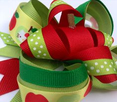 Hello Kitty Apple Back to School Girls hair bow by CreateAlley, $8.99