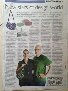 """""""What Lego did for kids at playtime, Korol is doing for interior designers!"""" Featured in yesterdays Sunday Tribune in the Business section. Andy Cartwright Homeware is making waves. Read more about our Business, our History and our people."""