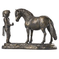 Whatcha Got Sculpture - Horse Themed Gifts, Clothing, Jewelry and Accessories all for Horse Lovers | Back In The Saddle