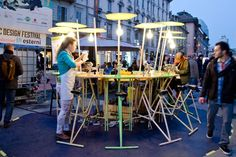 Lawn and Garden Tools Basics In Public Space We Trust Urban Furniture, Street Furniture, San Antonio, Shabby Chic Table And Chairs, Public Seating, Site Plans, Smart City, Parcs, Public Art