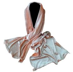 Velour Peach Color Scarf Soft Fuzzy Neck by RelaxedLuxKathleen