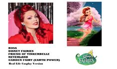 Disney Fairies: Rosa Cosplay (Real Life) Friend of Tinkerbelle