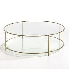 Table basse ronde verre trempé, Sybil