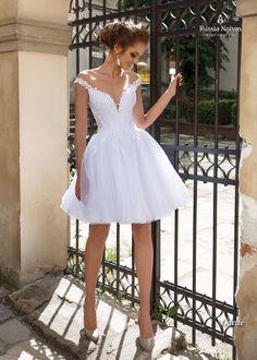 White off the shoulder a-line wedding dresses,short wedding bridal dresses - dress - Vestidos Bridal Robes, Bridal Dresses, Bridesmaid Dresses, Dama Dresses, Short Dresses, Short Wedding Dresses, Corset Wedding Gowns, After Wedding Dress, 50s Wedding