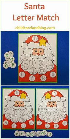 This week's free printable is Santa Letter Match which is a great activity for letter recognition and review. Available until Sunday December 15th ... after that it will be available in the member's section of the site.