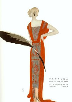 Vintage fashion illustration. Eduardo Garcia Benito.