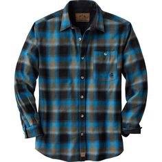 Men's Long Sleeve Cotton Buck Camp Plaid Flannels  deergear.com #LegendaryWhitetails