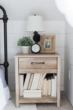 Modern farmhouse bedside table