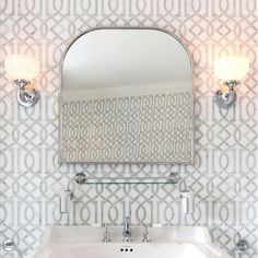 A beautiful traditional curved bathroom mirror with a stunning polished stainless steel chrome frame and comes with a 10 year guarantee. All Burlington . Traditional Bathroom Mirrors, Burlington Bathroom, Arched Windows, Declutter Your Home, Vanity Units, Simple Bathroom, Bathroom Styling, Modern Materials, Interior