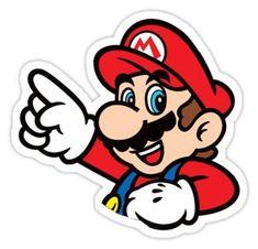 'Super Mario Bros - Mario' Sticker by HerosDesigns Super Mario Bros, Super Mario Birthday, Super Mario Party, Super Mario World, Super Mario Brothers, Super Smash Bros, Mario Kart, Mario Y Luigi, Art Hama