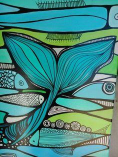 Posca Art, Whale Art, Mermaid Art, Ocean Art, Fish Art, Zentangle Patterns, Zentangles, Beach Art, Watercolor And Ink