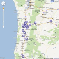 Oregon has over 27 lavender farms!  The lavender festival is coming up in Mid-July.  Here's a map of all the lavenders sites.