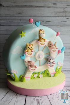 Ideas birthday kids cake kuchen for 2019 Pretty Cakes, Cute Cakes, Beautiful Cakes, Awesome Cakes, Gateau Baby Shower, Baby Shower Cakes, Baby Shower Cake Decorations, Birthday Decorations, Fondant Cakes